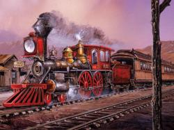 Rolling Thru (Blaylock) Trains Jigsaw Puzzle