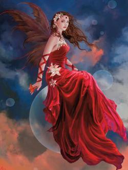 Crimson Lily (Nene Thomas) Fairies Jigsaw Puzzle