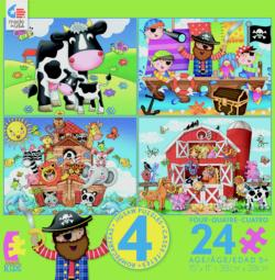 4 in 1, 24 Piece Kids Multi-Pack Pirates Multi-Pack