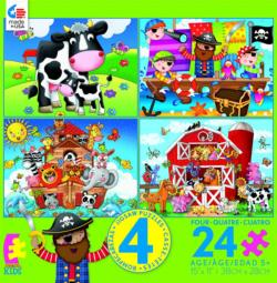 4 in 1, 24 Piece Kids (Pirate) MultiPack Pirates Multi-Pack