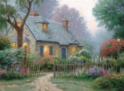Foxglove Cottage (Thomas Kinkade 1000 Piece) Cottage/Cabin Jigsaw Puzzle