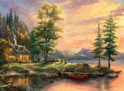 Morning Light Lake (Thomas Kinkade 1000 Piece) Sunrise/Sunset Jigsaw Puzzle