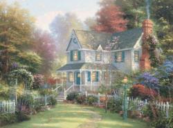 Victorian Garden II (Thomas Kinkade 1000 Piece) Sunrise/Sunset Jigsaw Puzzle