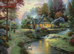 Stillwater Cottage (Thomas Kinkade 1000 Piece) Sunrise/Sunset Jigsaw Puzzle