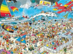 Beach Cartoons Jigsaw Puzzle