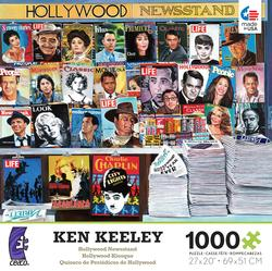 Hollywood Newsstand (Ken Keeley) Magazines and Newspapers Jigsaw Puzzle