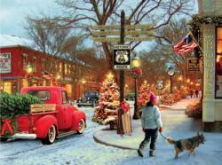 Route 66 (Classic Christmas) Nostalgic / Retro Jigsaw Puzzle