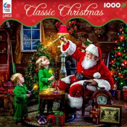 Santa's Magic Pain (Classic Christmas) Domestic Scene Jigsaw Puzzle