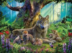 Wildlife Mountain (Wolves) Baby Animals Jigsaw Puzzle