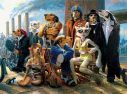 Cast and Crew (Lonely Dog) Dogs Jigsaw Puzzle