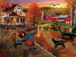 Country Inn and Farm Sunrise / Sunset Jigsaw Puzzle