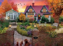 Conservatory House Sunrise / Sunset Jigsaw Puzzle