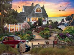 Seaside Hill Sunrise / Sunset Jigsaw Puzzle