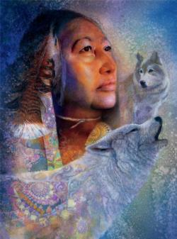 Spirits Mist (Native Spirit) Native American Jigsaw Puzzle