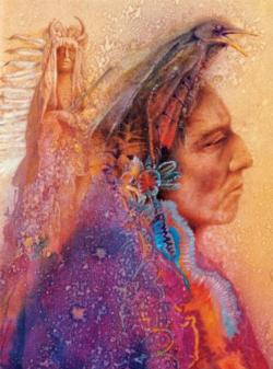 Soul Crow (Native Spirit) Native American Jigsaw Puzzle