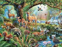 Woodland Creatures Deer Jigsaw Puzzle
