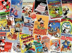 Mickey Vintage Posters Collage Jigsaw Puzzle