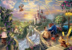 Beauty and the Beast Falling in Love Castles Jigsaw Puzzle