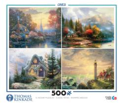 4 in 1, 500 Piece Thomas Kinkade Multi-Pack Lighthouses Multi-Pack