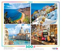 Around the World 4-in-1 Travel Jigsaw Puzzle