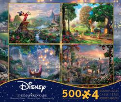 4 in 1, 500 Piece Thomas Kinkade Disney Dreams Multi-Pack Movies / Books / TV Multi-Pack