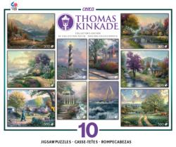Thomas Kinkade 10 in 1 Collector's Edition - Scratch and Dent Lakes / Rivers / Streams Multi-Pack