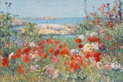 Celia thaxter's Garden, Isles of Shoals, Maine by Childe Hassam People