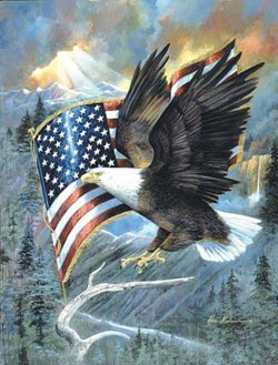 American Eagle Military / Warfare Jigsaw Puzzle