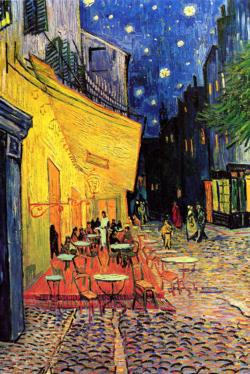 Cafe Terrace At Night by Van Gogh People