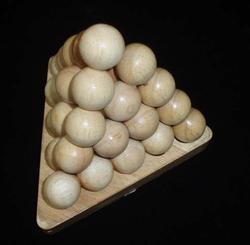 Cannonball Pyramid 5x5x5 Egypt Brain Teaser