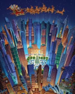 Christmas Around the World Skyline / Cityscape Jigsaw Puzzle