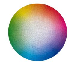 1000 Colours Wheel Graphics / Illustration Impossible Puzzle