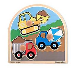 Construction Jumbo Knob Construction Children's Puzzles