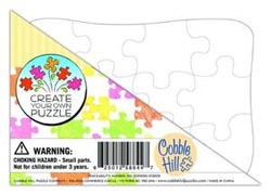 Create Your Own Puzzle - Postcard Size Educational Arts and Crafts