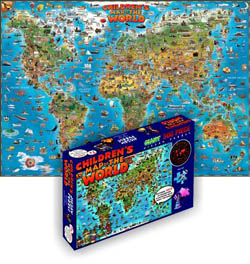 Dino's World Maps Children's Puzzles