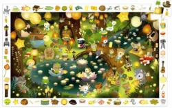 Observation Puzzle - Party in the Forest Educational Children's Puzzles