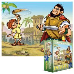 David and Goliath Cartoons Children's Puzzles