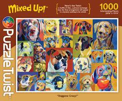 Doggone Crazy! Contemporary & Modern Art Jigsaw Puzzle
