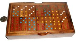 Dominoes - Double 6 w/ Handcrafted Box