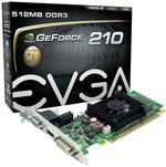 EVGA nVidia GeForce 210 512MB DDR3 VGA/DVI/HDMI PCI-Express Video Card