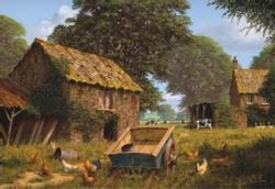 Farmyard Cottage/Cabin Jigsaw Puzzle
