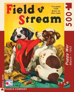 Puppy War (Field & Stream) Magazines and Newspapers Jigsaw Puzzle