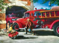 Firehouse Dreams Nostalgic / Retro Jigsaw Puzzle