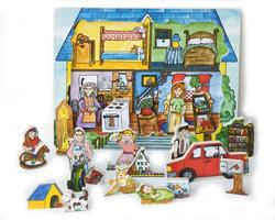 Flipzles House Puzzle Wooden Jigsaw Puzzle
