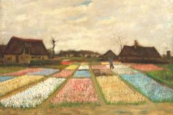 Flower Beds in Holland by Van Gogh People