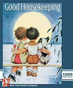 Under the Full Moon (Good Housekeeping) Americana & Folk Art Jigsaw Puzzle