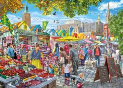 Market Day, Norwich United Kingdom Jigsaw Puzzle