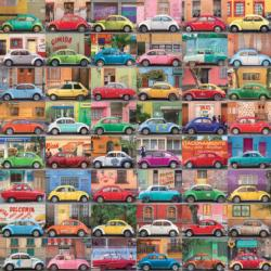 Muchos Autos Pattern / Assortment Jigsaw Puzzle