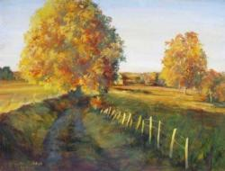 Autumn Lane Landscape Jigsaw Puzzle