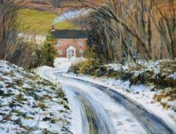 Gamekeepers Cottage Snow Jigsaw Puzzle